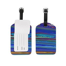 Fractal Art Abstract Color Bright Pattern Luggage ID Tags Tr