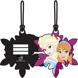 Frozen Sisters Elsa Anna Laser Cut Luggage Tag Backpack ID 4