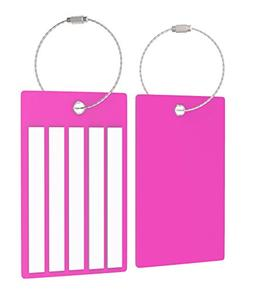 Heavy Duty Travel Suitcase Luggage/Bag Tags Set, Strong Cust