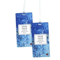 How Easy to Travel Luggage Tag Set - 2 pc, Large by 11:11 En