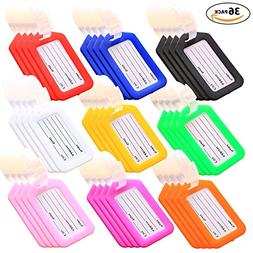Key Tags, Identifiers Labels For Luggage Suitcases Bags, PVC