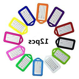 King&Pig 12pcs plastic Suitcase Luggage Tags Travel Access B