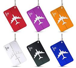 King&Pig 6pcs Aluminium Alloy Luggage Tags Travel Accessorie