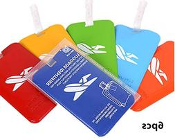 King&Pig 6pcs Luggage Tags Travel Accessories Baggage Name T