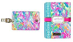 Lilly Pulitzer Passport Case with Luggage Tag Set Sparkling