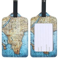 Lizimandu PU Leather Luggage Tags Suitcase Labels Bag Travel
