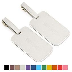 Logical Leather Luggage Tag Genuine Leather Travel ID Tags w