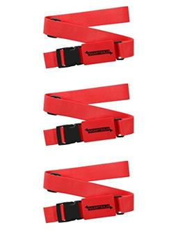 Luggage Straps, Adjustable Non-Slip Baggage Belts - Suitcase
