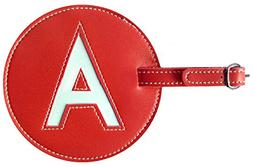 Luggage Tag Initial pb Travel RED A