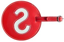 Luggage Tag Initial pb Travel RED S