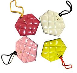 Luggage Tag Quilted Diamond PVC Design l Bagpack Travel Tags