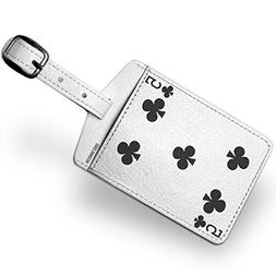 Luggage Tag clubs Five - Five / card game - NEONBLOND