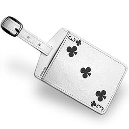 Luggage Tag clubs Three - Three / card game - NEONBLOND