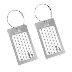 Luggage Tags 2 Pcs Set Business Card Holder Mont Swiss Trave