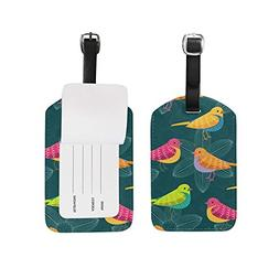 Luggage Tags Cute Birds Travel Baggage Tags