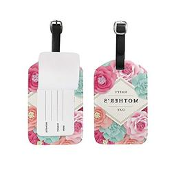 Luggage Tags Happy Mothers Mom Day Floral Flowers May Travel