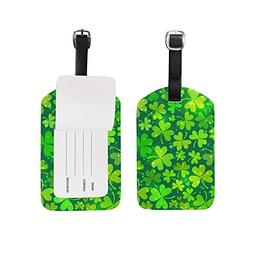 Luggage Tags Happy St Patrick Day Lucky Four Leaf Clover Sha