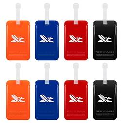 Luggage Tags Suitcase Labels Travel Bag ID Tag 8 Pack