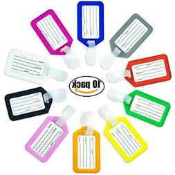 Luggage Tags, Tikesiho Luggage Tags in Mixed Colors and Size