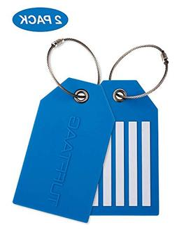 Luggage Tags, Travel Bag Tag Set and Identifier Labels for y