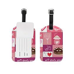 Luggage Tags Valentines Day Colorful Heart Love You Spring S
