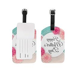 Luggage Tags Vintage Cute Happy Mothers Mom Day Floral Flowe