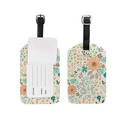 Luggage Tags Vintage Floral Flowers Country Garden Travel Ba