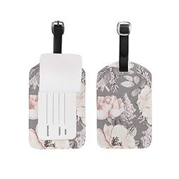3134c4b50330 Luggage Tags Vintage Floral Flowers Rose...