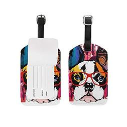 9942a8a6dbc8 Luggage Tags Vintage Watercolored Dog Pu...
