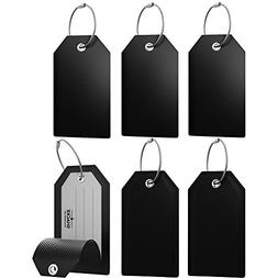 Mini Luggage Tag with Full Privacy Cover and Stainless Steel