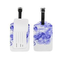 My Daily Abstract Color Smoke Ink Luggage Tags PU Leather Ba