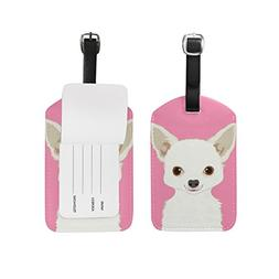 My Daily Chihuahua Dog Luggage Tag PU Leather Bag Tag Travel