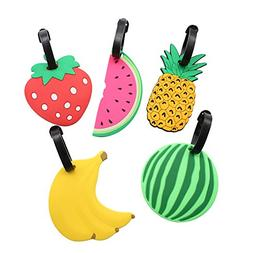 Mziart Colorful Fruits Luggage Tags Baggage Suitcase Backpac
