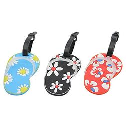 Mziart Personalized Flip Flop Luggage Tags Travel Baggage Ta