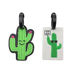 Mziart Unique Cactus Travel Luggage Tags TAS Approved Baggag