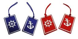 Nautical Anchor & Ship's Wheel Luggage Tags
