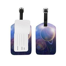 Planet Cosmos Travel Luggage Suitcase Label ID Tag PU for Ba