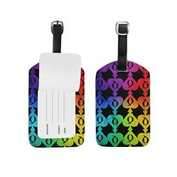 Queen Of Spades Poker PU Leather Luggage Tags Suitcase Cruis