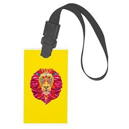 Royal Lion Large Luggage Tag Geometric Lion King of the Jung
