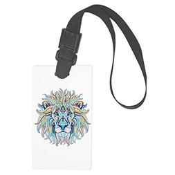 Royal Lion Large Luggage Tag Patterned Lion Head