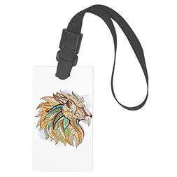 Royal Lion Large Luggage Tag Patterned Lion King of the Jung