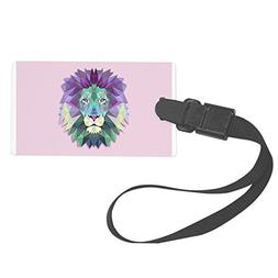 Royal Lion Large Luggage Tag Triangle Lion King of the Jungl
