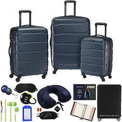 Samsonite Omni 3-Piece Nested Spinner Set - Teal with Luggag