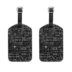 Math Cruise Luggage Tag For Travel Tags Accessories 2 Pack Luggage Tags
