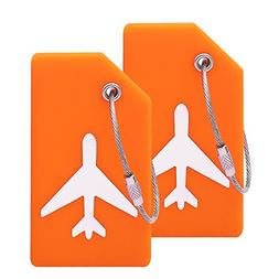 Silicone Luggage Tag With Name ID Card Perfect to Quickly Sp