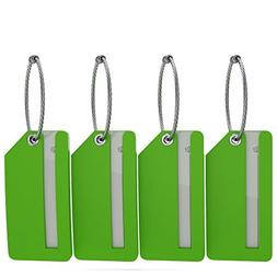 Small Luggage Tags with Privacy Cover & Metal Loop -