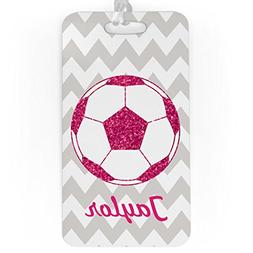 Soccer Luggage & Bag Tag | Personalized Glitter Soccer Ball