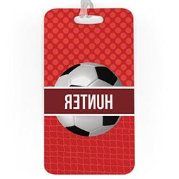 Soccer Luggage & Bag Tag | Personalized Name with Soccer Bal