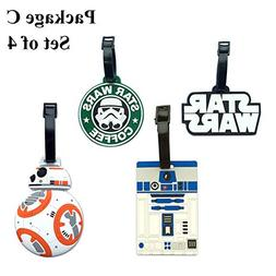 Star and Wars Luggage Tag Hot Street Travel ID Labels Set of