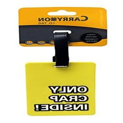 TLPVC004 Miami Carry-on Yellow Luggage ID Tag Funny Saying -